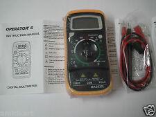 HAOYUE MAS830L Digital Handheld Multimeter Tester White / Blue Backlight LCD