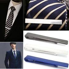 Men Stainless Steel Tone Simple Necktie Tie Bar Clasp Clip Clamp Pin Gift 4CM EU