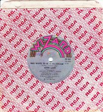 """KEITH LAMB & HUSH - WHO WANTS TO BE A MILLIONAIRE - RARE SAMPLE 7"""" RECORD - 1977"""