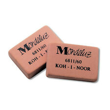 Koh-I-Noor 6811/60 Soft Erasers for Graphite and Coloured Pencil - Pack of 5 NEW