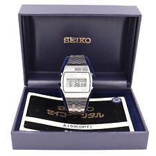 Seiko A159-4000-G Quartz LC Alarm Chronograph Digital Stainless Steel Watch