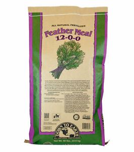 Down To Earth - Feather Meal (12-0-0) 50 LB - All Natural Organic Fertilizers