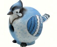 Blue Jay Bird House - Gord- O Hand Carved & Painted Se097