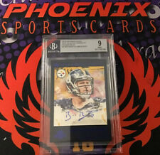 Ben Roethlisberger 2015 Gridiron Kings Blue Framed Stat Kings Auto  5/7 BGS 9