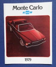 1979 Chevrolet MONTE CARLO Color Sales Brochure - ORIGINAL New Old Stock