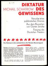 Theaterprogramm, Deutsches Theater Berlin, Schatrow, Diktatur des Gewissens 1980