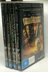 Pirates of the Caribbean - 4 DVD Pack - AusPost with Tracking