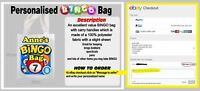 Personalised Bingo tote Bag Ideal for Carrying Dabbers, Pens, Glasses great gift