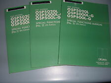 Okuma CNC Systems, OSP5020L, 5000L-G, 500L-G Special Functions Manual NO. 1,2,3.