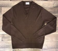 Vintage Kings Road Sears Men's Store - V-Neck Sweater, Brown, Size XL - 70s