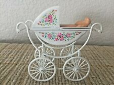 Vintage Dolls' House Miniature Baby Child Carriage Buggy Pram