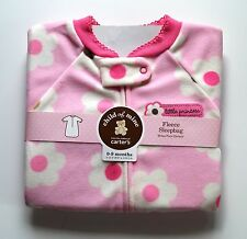 NWT Carter's Child of Mine Baby newborn girl Fleece Sleepbag Size 0-9 Months