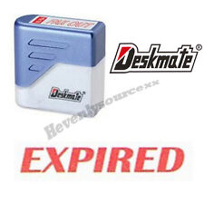 { EXPIRED } Deskmate Red Pre-Inked Self-Inking Rubber Stamp #KE-E13