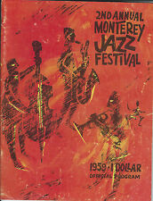 Monterey jazz festival 2nd annual 1959 official program softcover good condition