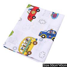 50x40cm Car Pattern Cotton Fabric DIY Craft Sewing Patchwork Quilting Cushion