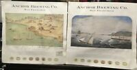 (2) Anchor Brewing Co. San Francisco Art Print Image Posters - Waseurtz & Ayers