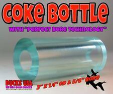 "Duck Call Acrylic Coke Bottle Barrel Blanks 3"" x 1.4"" Od with 5/8"" Bore"
