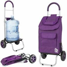Trolley Dolly, Purple Shopping Grocery Foldable Cart