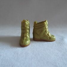 NEW Barbie Style Glam Luxe Nikki Doll Gold High Top Sneakers Shoes ADD ON ITEM!