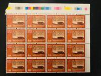 200  MNH Sri LankaMember of  Parliament Stamps Briefmarken Block of 16 Bundestag