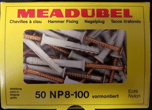 MEA Nail Anchors Np 8-100 Pre-assembled, Senkbunddübel, Impact Plugs 8x100