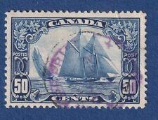 Canada stamps #158 50c dark blue bluenose used VF+ NH CV$100