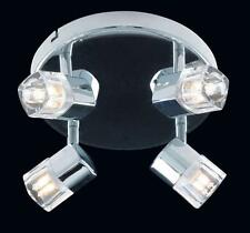 Ex Display Ice 4 Lamp Bar Plate Chrome Adjustable Spotlight H13.5cm-Chrome