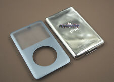 grey front faceplate + metal back case housing for ipod classic 6th thin 120gb