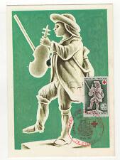 Croix-Rouge Ivoires 1967 timbre France 1er jour FDC sur 2 cartes maximums /T2599