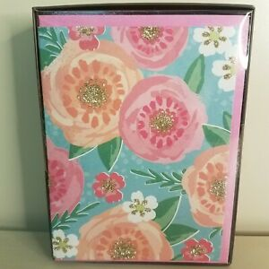 Floral  NOTE CARDS & envelopes 24  count