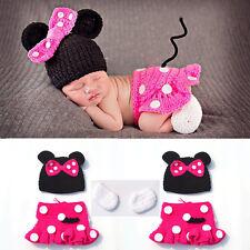 Cute Baby Girls Newborn Knit Crochet Handmade Costume Photography Prop Outfits
