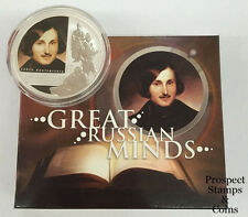 2009 Great Russian Minds Nikolai Gogol 1oz Silver Dollar Coin