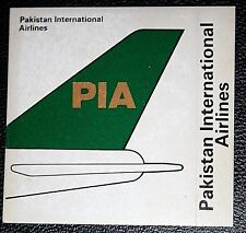 PAKISTAN INTERNATIONAL AIRLINES   PIA   Tail Fin Colours  Sticker Card