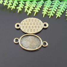 100 un. Aleación De Bronce Antiguo Cameo Base Colgantes Joyería Conectores Crafts
