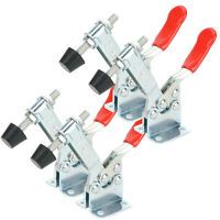 4 PCS 90Kg Holding Capacity Horizontal Quick Release Clamp Tool Toggle Hand D6D5