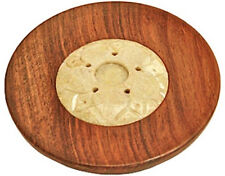"Wooden Sticks/Cone Burner - Soapstone 4""D"