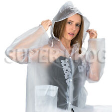 Clear vinyl see through imperméable transparent festival manteau de pluie pvc imperméables