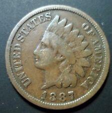 1887 Indian Head Cent DDO 1 Snow 1 S1 Cherrypicker FS-101 S-1 Doubled Die n102