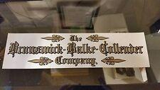 Brunswick Balke Collender Co. Adhesive Back Decal