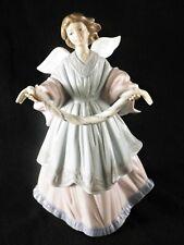 Lladro 6125 Joyful Offering Girl Angel Tree Topper Hand Made Porcelain MINT