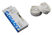 Giant Soft Comfort Gel Cork Road Bike Drop Handlebar Tape White Bar End Plugs