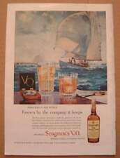1958 Seagram's VO Canadian Whisky Color AD