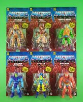 MASTERS OF THE UNIVERSE ORIGINS (MOTU) WAVE 1 (6 FIGURE SET) UNPUNCHED ULTRA HOT