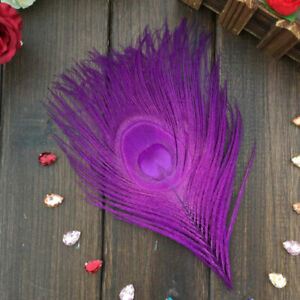 Wholesale 10-100pcs 10-15cm/4-6 inches Dyed Peacock Feathers Eyes For Decoration