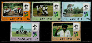 VANUATU (Ex:New Hebrides) 1982 - 345 to 349 SCOUTING - (MNH) -