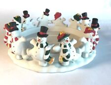 Partylite Frolicking Frostys 3-wick candle holder, Christmas Snowman