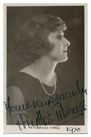Antique Miss Phyllis Titmuss hand signed autograph photographic postcard actress