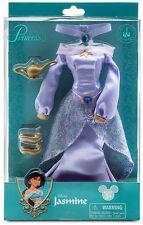 Disney Store parks Jasmine Costume purple dress clothes fashion Aladdin doll