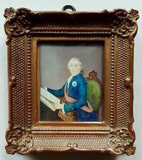 (BA030) Miniatur, Portrait Ludwig XV. von Frankreich, Gouache, signiert Dupond