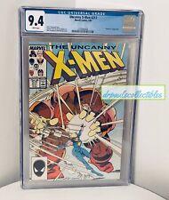 Uncanny X-Men #217 CGC 9.4 Graded Marvel Comics White Pages 5/87
